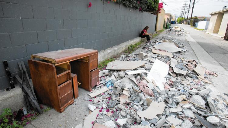 L.A. illegally dumped trash