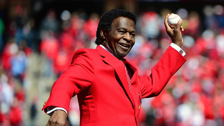Hall of Famer Lou Brock throws out first pitch six months after leg amputation