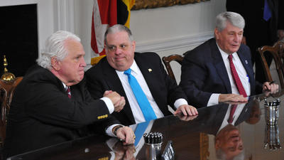Hogan, Miller, Busch upbeat about just-ended Maryland General Assembly session