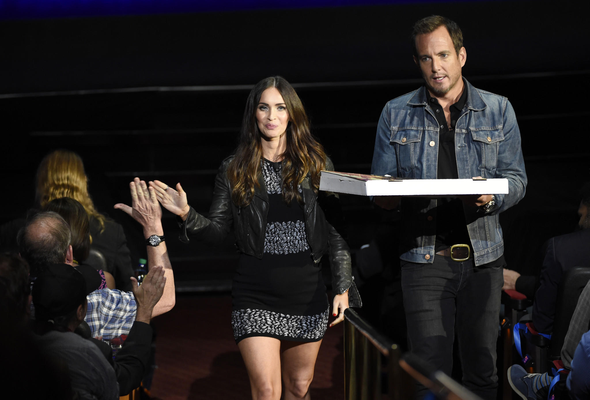 Megan Fox and Will Arnett at CinemaCon. (Chris Pizzello/Invision/AP)