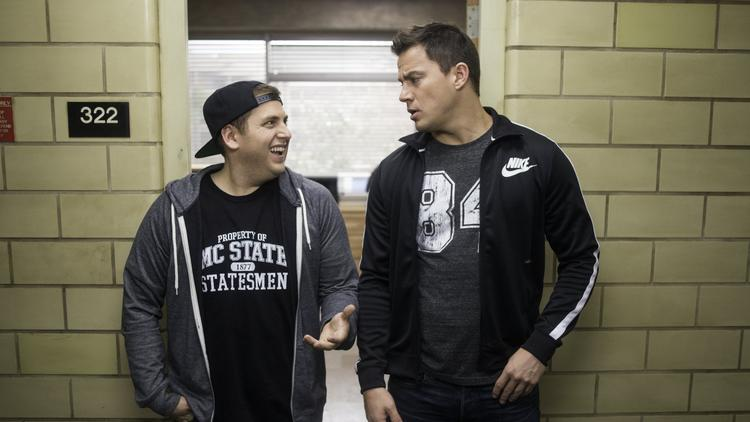 "Jonah Hill, left, and Channing Tatum in ""22 Jump Street."" (Glen Wilson / Columbia Pictures)"