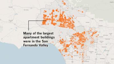 Map of L.A.'s dingbats