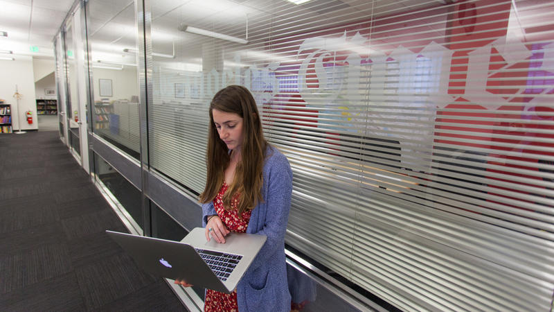 Colleen Shalby, a Times staffer, mistakenly registered with the American Independent party. (Steve Saldivar / Los Angeles Times)