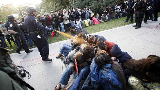 Pepper-spray incident at UC Davis protest