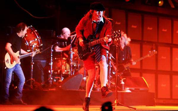 AC/DC performing at Coachella in 2015. (Luis Sinco / Los Angeles Times)