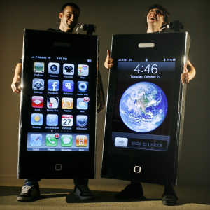 iphone costume. need a halloween costume? check out these iphone suits created by inerds iphone costume
