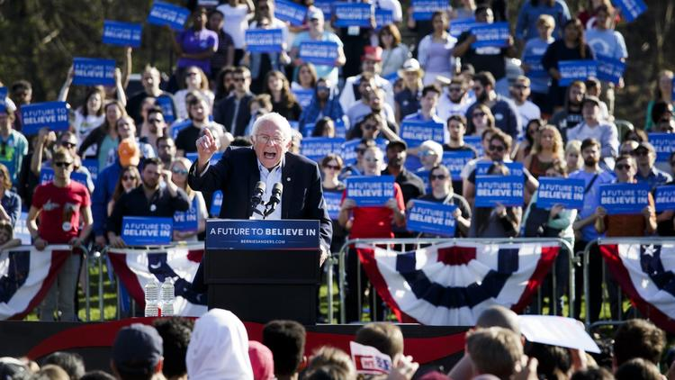 Sen. Bernie Sanders Rally in Brooklyn, New York