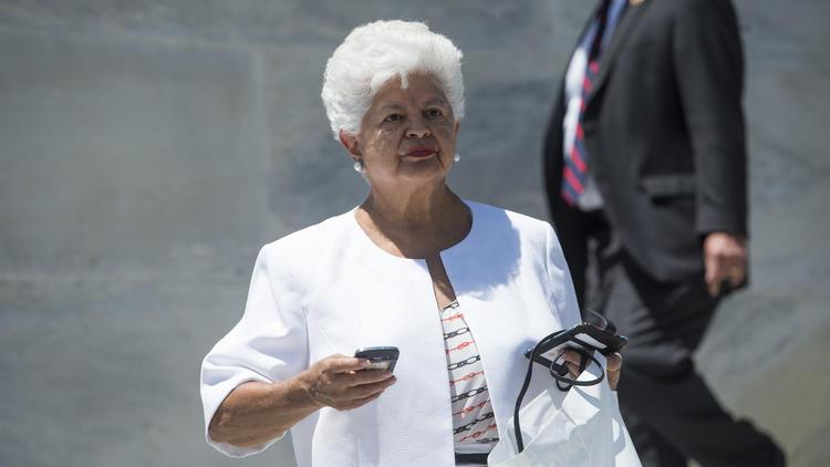 Rep. Grace Napolitano (D-Norwalk) in 2014. At a campaign stop in February, Napolitano suffered a minor stroke.  (Bill Clark / CQ Roll Call) None