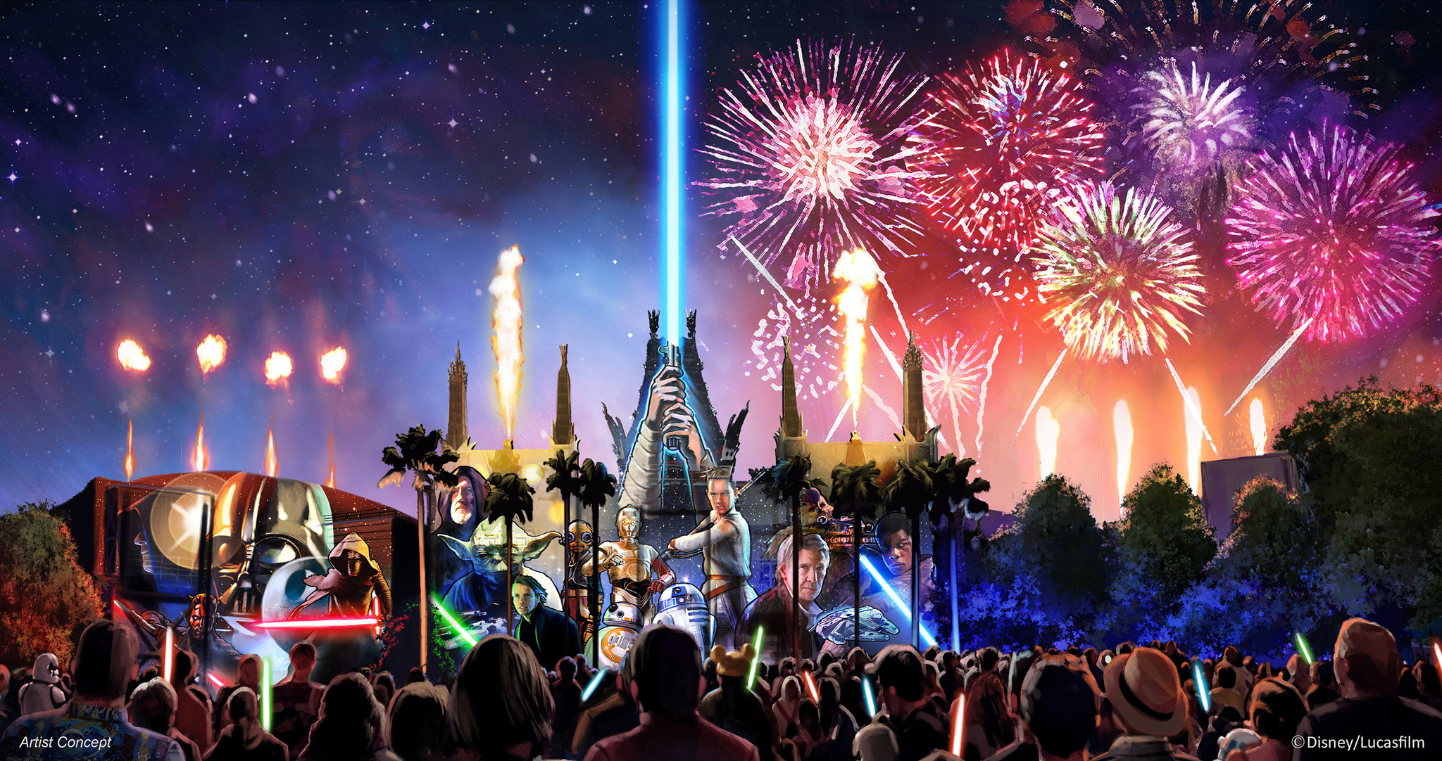 details emerge for new star wars fireworks show coming to disney's