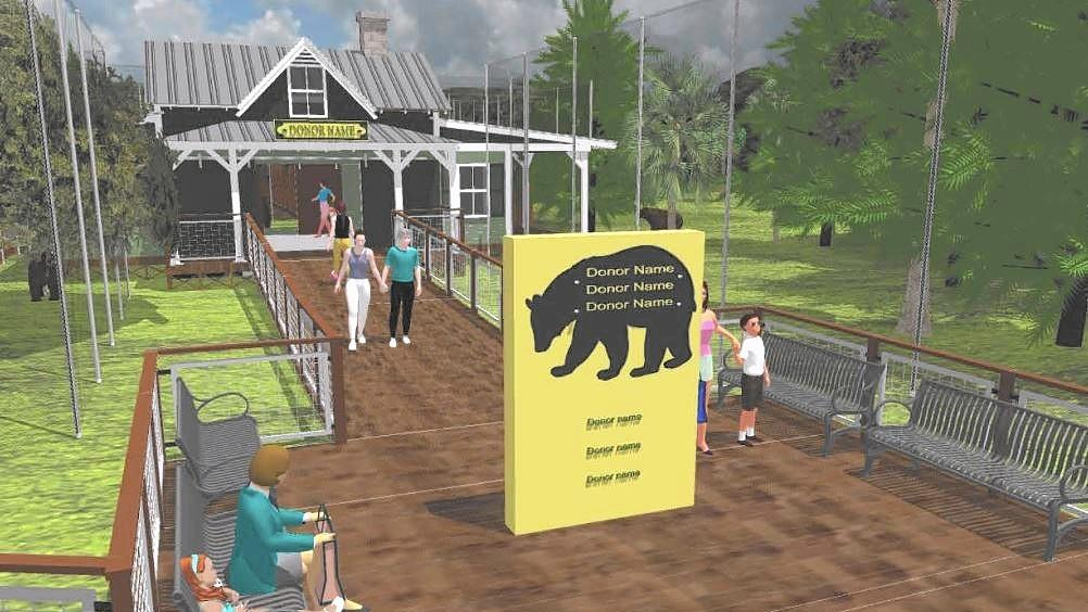 Artist rendering on a new bear exhibit at the Central Florida Zoo.
