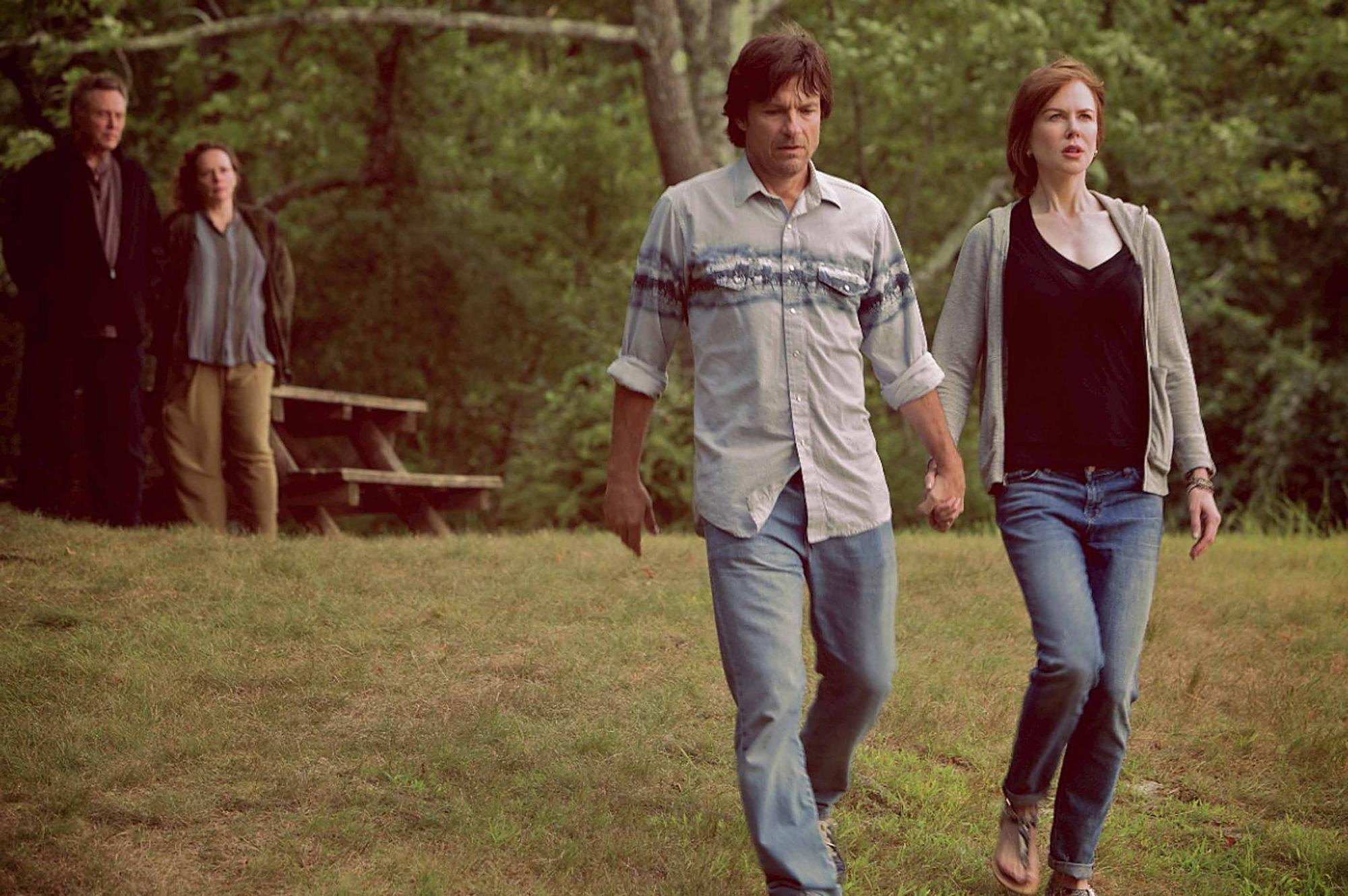 "Jason Bateman, center, and Nicole Kidman in ""The Family Fang."""