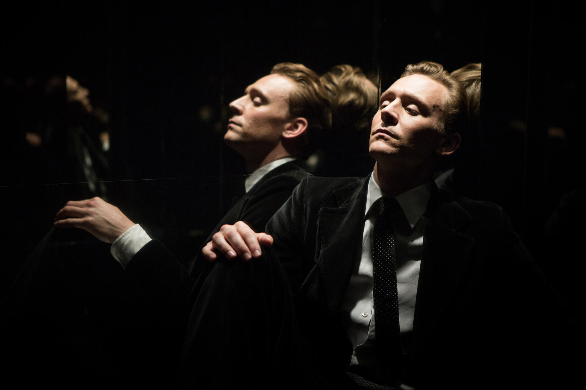 "Tom Hiddleston in ""High Rise."""