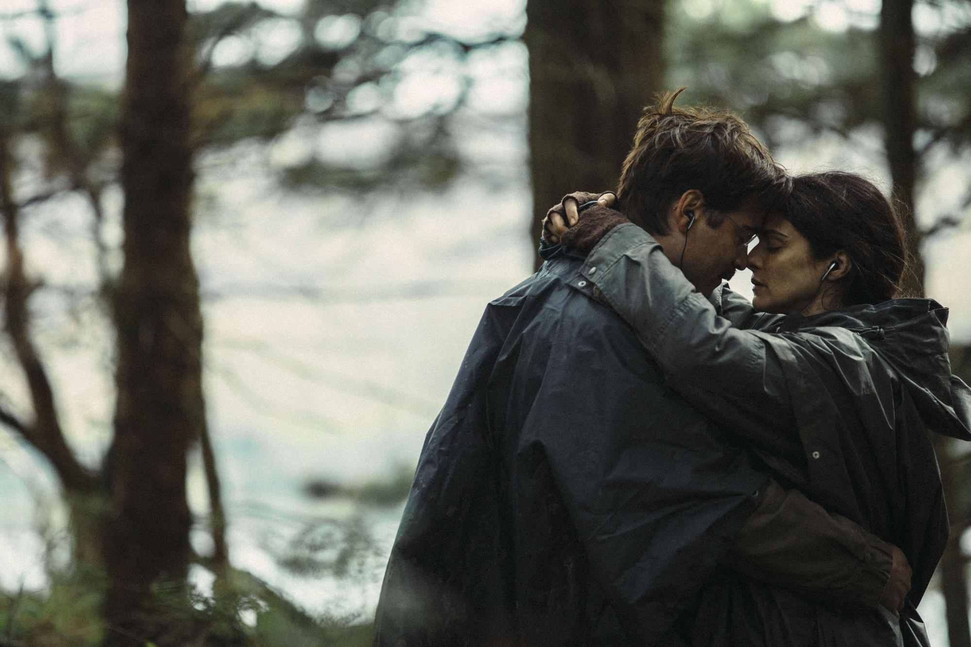 "Colin Farrell and Rachel Weisz in ""The Lobster."""