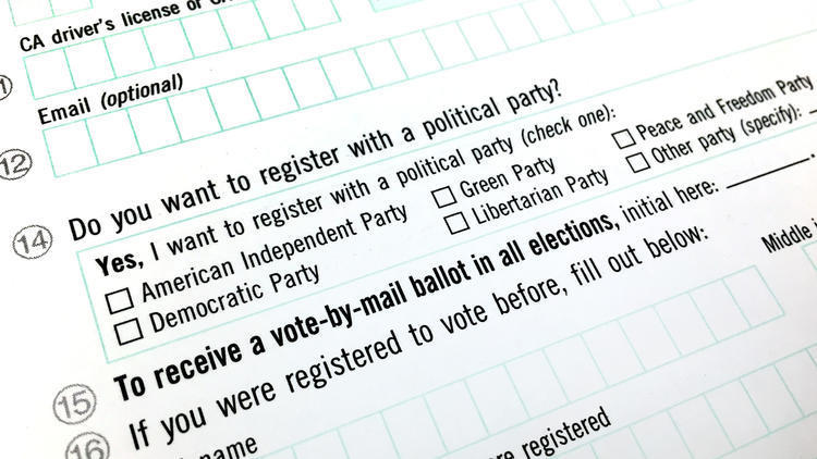 CaliforniaS Voter Registration Form Looks Like It Was Written By