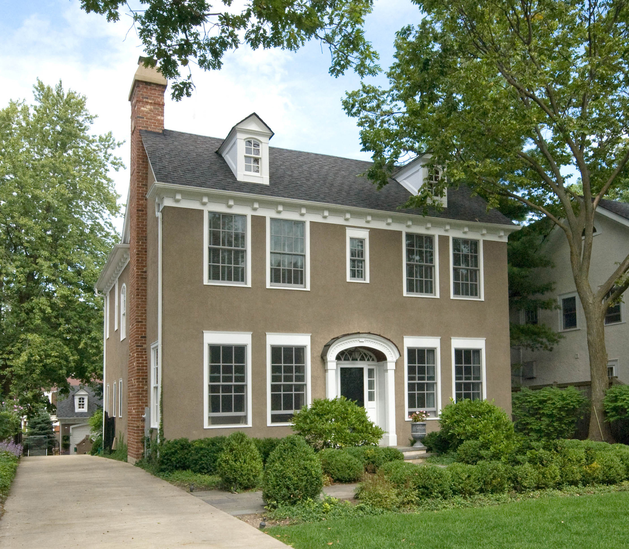 Colonial style house in winnetka chicago tribune for House plans colonial style homes