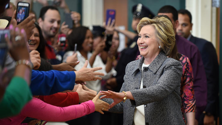 Hillary Clinton Makes Campaign Stop In Hartford