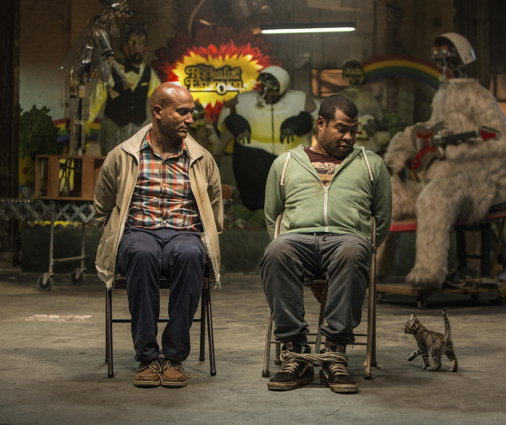 "Keegan-Michael Key, left, and Jordan Peele in ""Keanu."""