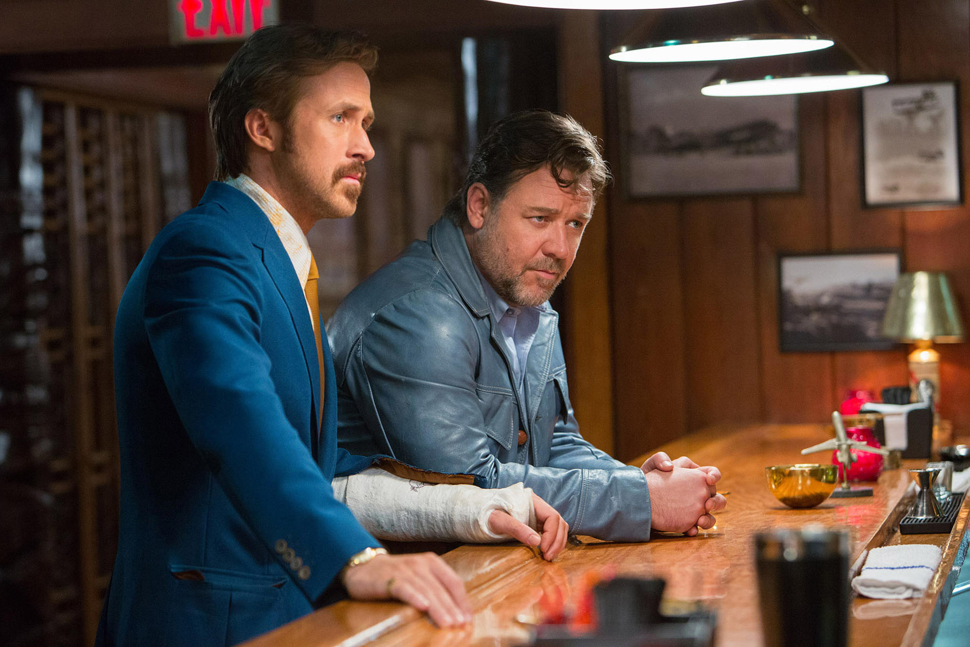 Russell Crowe, left, and Ryan Gosling in 'The Nice Guys.'