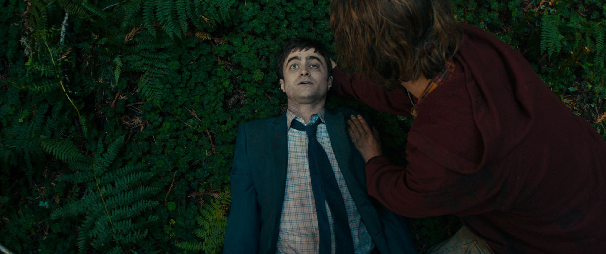 "Daniel Radcliffe, left, and Paul Dano in ""Swiss Army Man."""