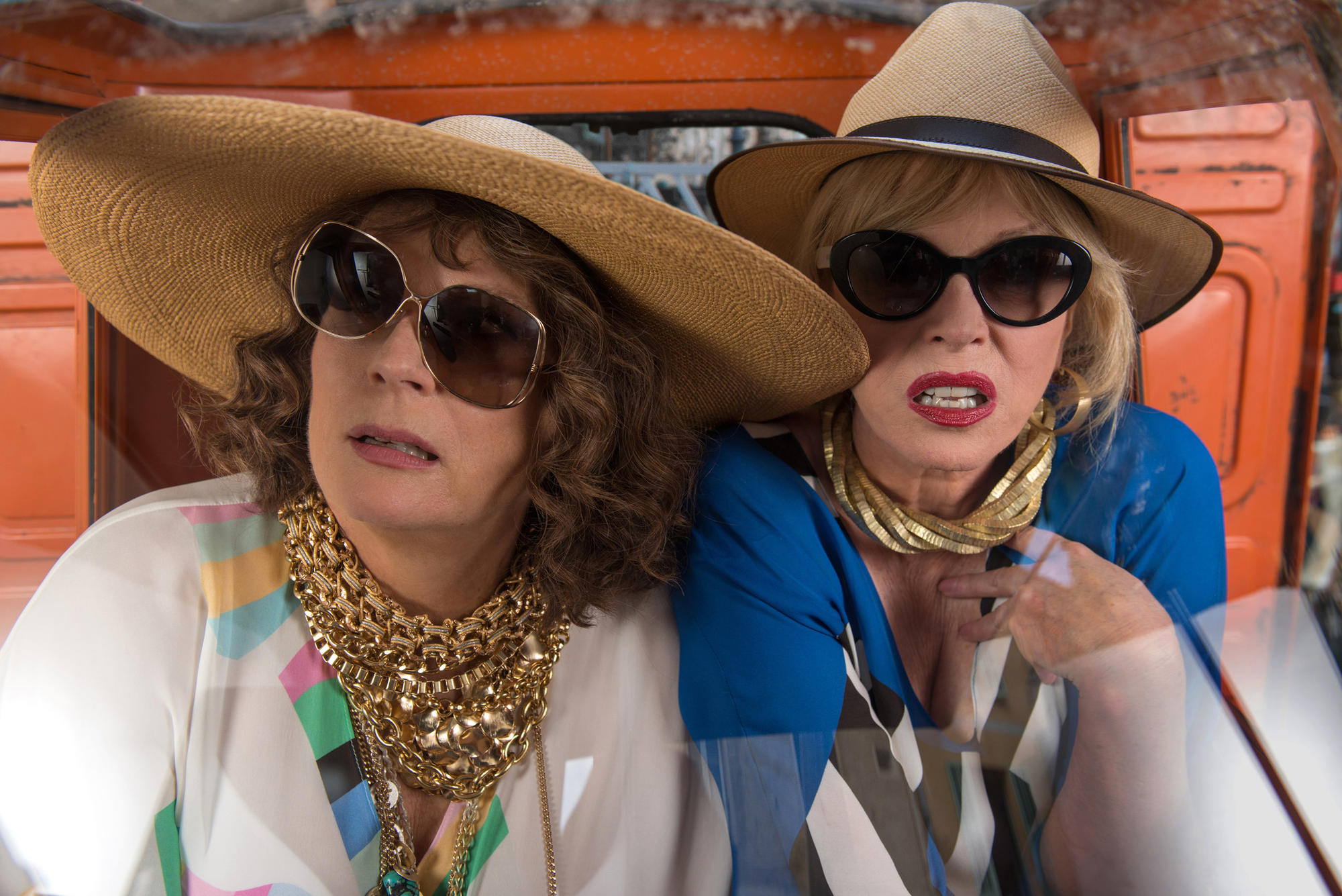 Joanna Lumley, left, as Patsy and Jennifer Saunders as Edina in 'Absolutely Fabulous.'
