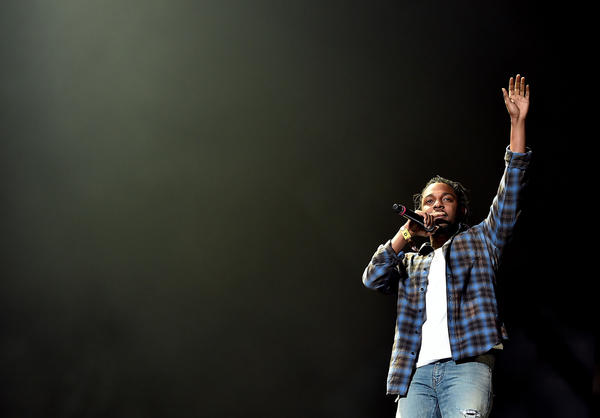 Kendrick Lamar onstage at Coachella. (Kevin Winter / Getty Images for Coachella)