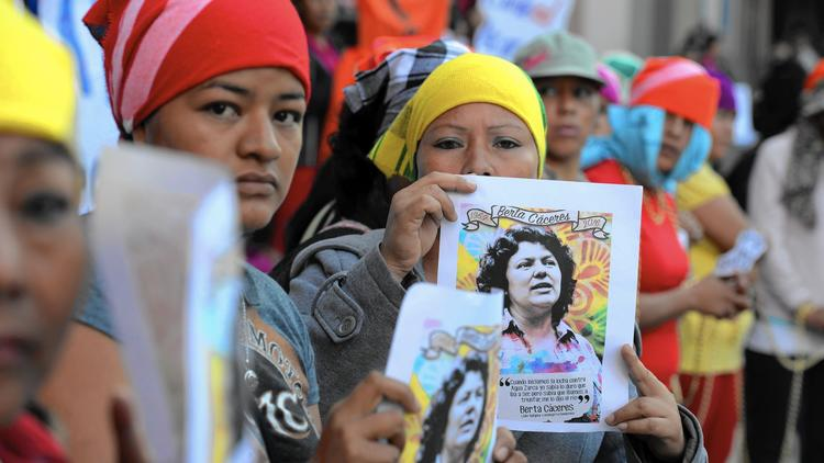 In memory of Honduran activist Caceres