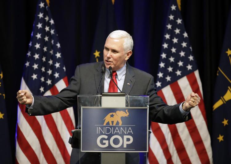 Mike Pence (Darron Cummings / Associated Press)