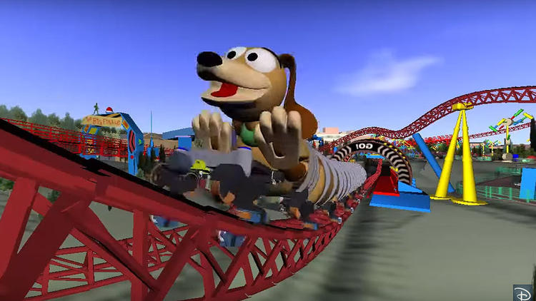 Disney's new Slinky Dog Dash roller coaster at Toy Story Land