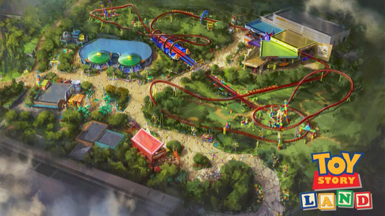 April 2016 rendering: Toy Story Land at Disney's Hollywood Studios in Florida