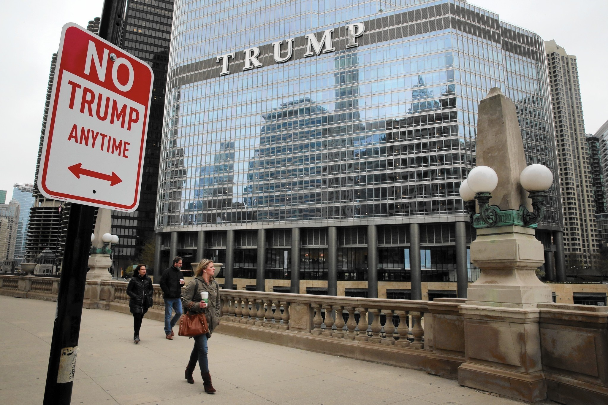 Public art takes it to the streets: 'No Trump Anytime' - Chicago ...