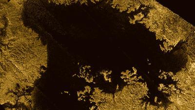 Methane-filled sea Ligeia Mare on Titan