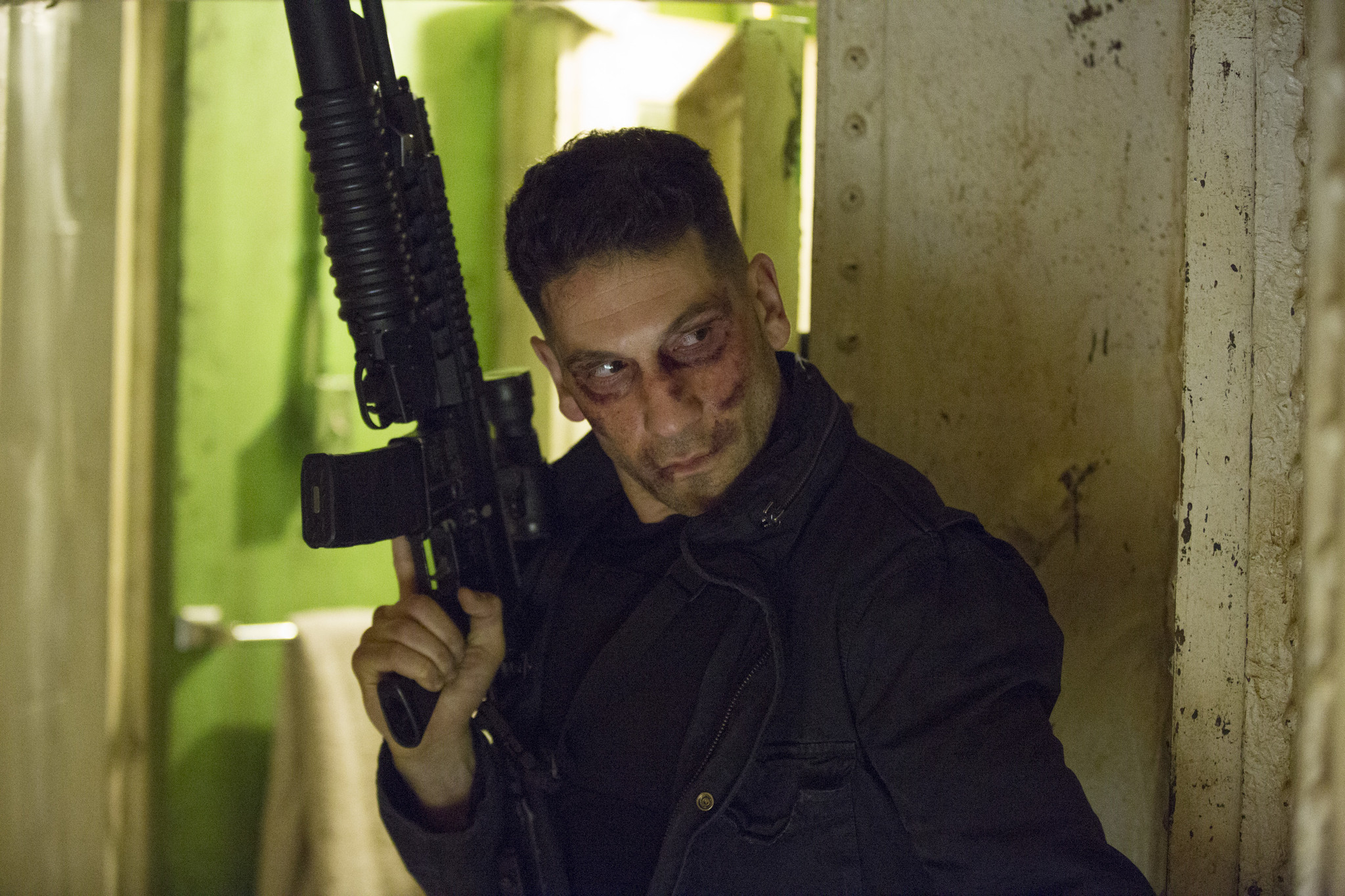 "Jon Bernthal as Frank Castle, a.k.a. the Punisher, in ""Daredevil."" (Patrick Harbron / Netflix)"