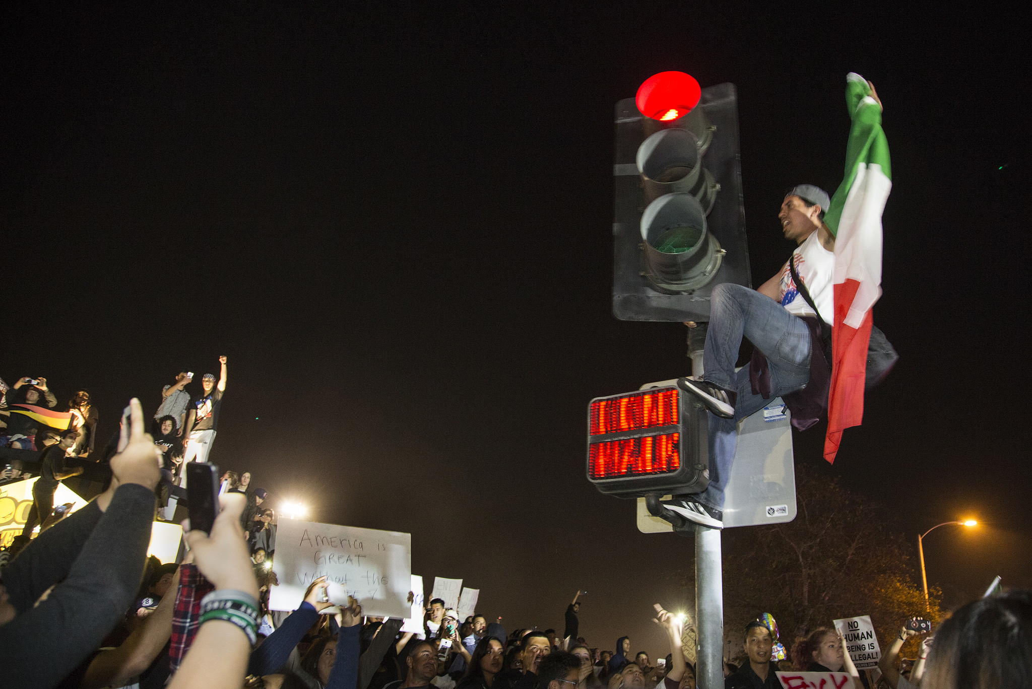 trump protesters mexican flag wavers could bring unintended