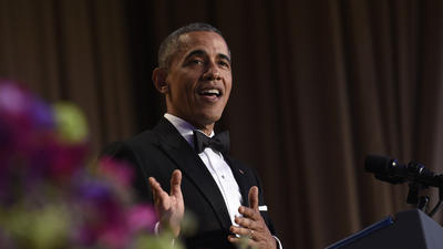 At White House Correspondents' dinner, Obama takes final zingers at Washington