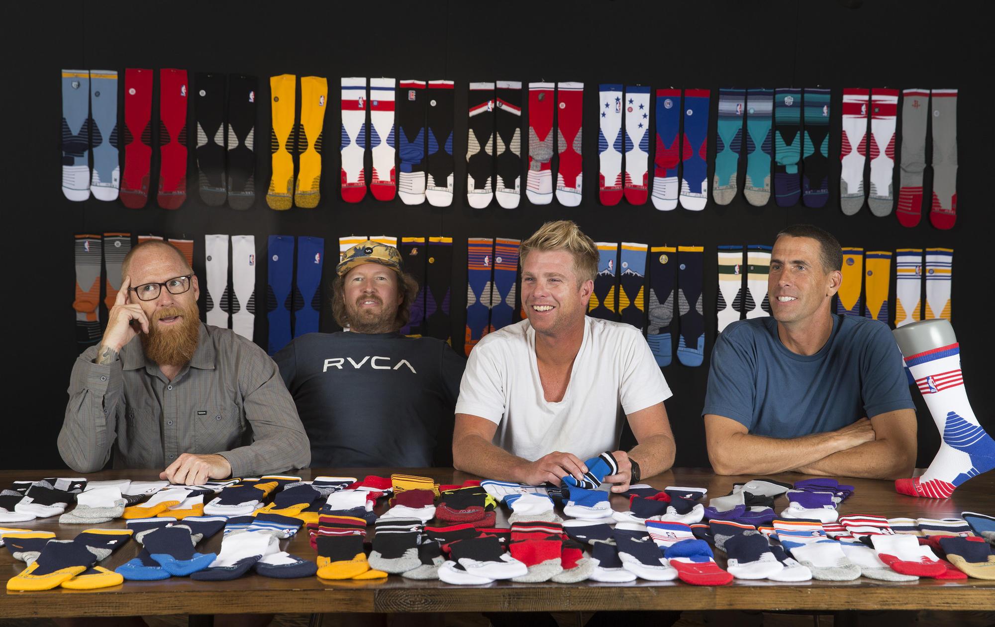 From left are Stance co-founders Ryan Kingman, Jeff Kearl, Aaron Hennings and John Wilson.