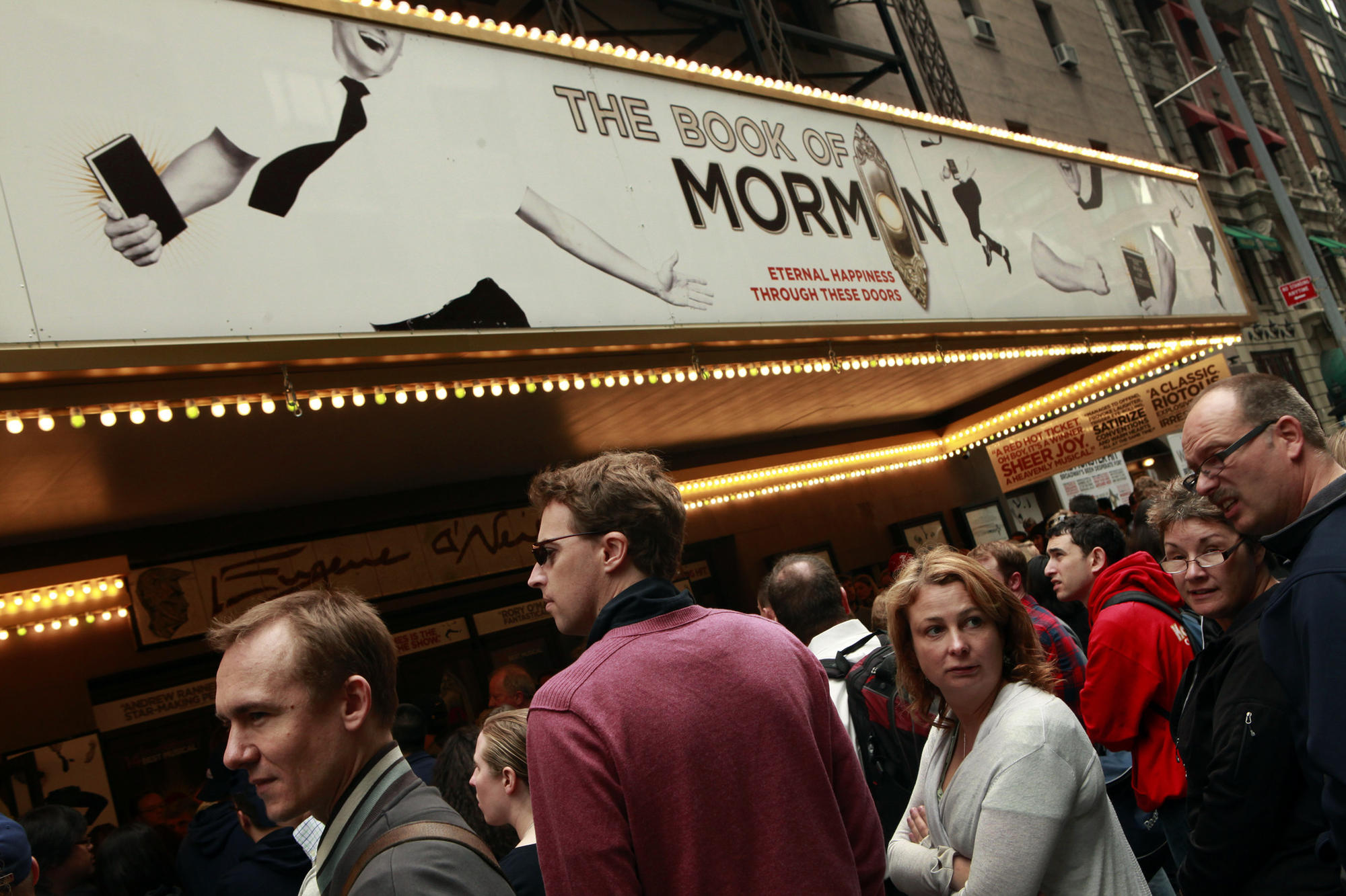 """The Book of Mormon"" has audiences lined up in 2011."
