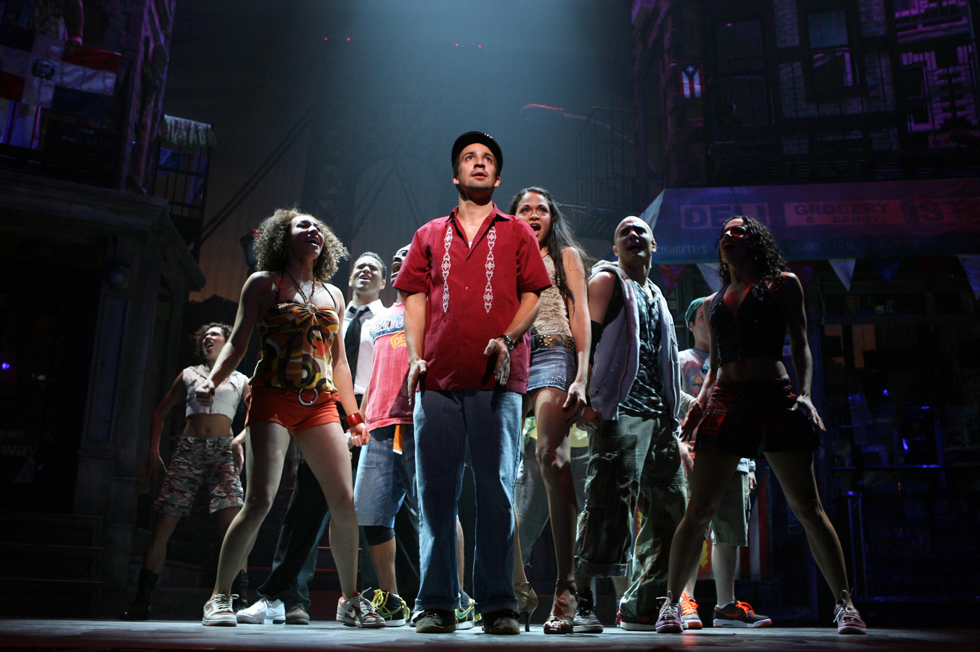 "Lin-Manuel Miranda onstage for ""In the Heights."" Miranda lost the 2008 Tony for musical actor but won for score."