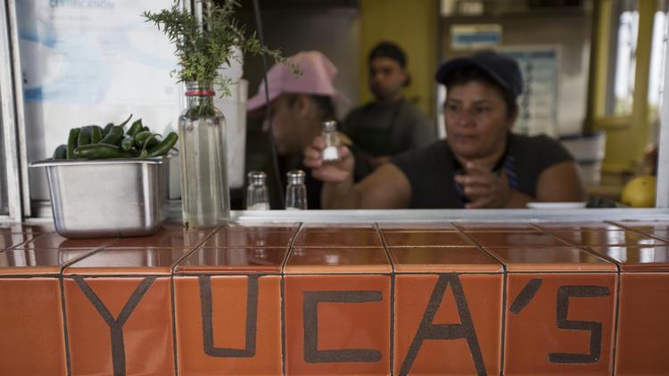 Yuca's tacos in Los Feliz.