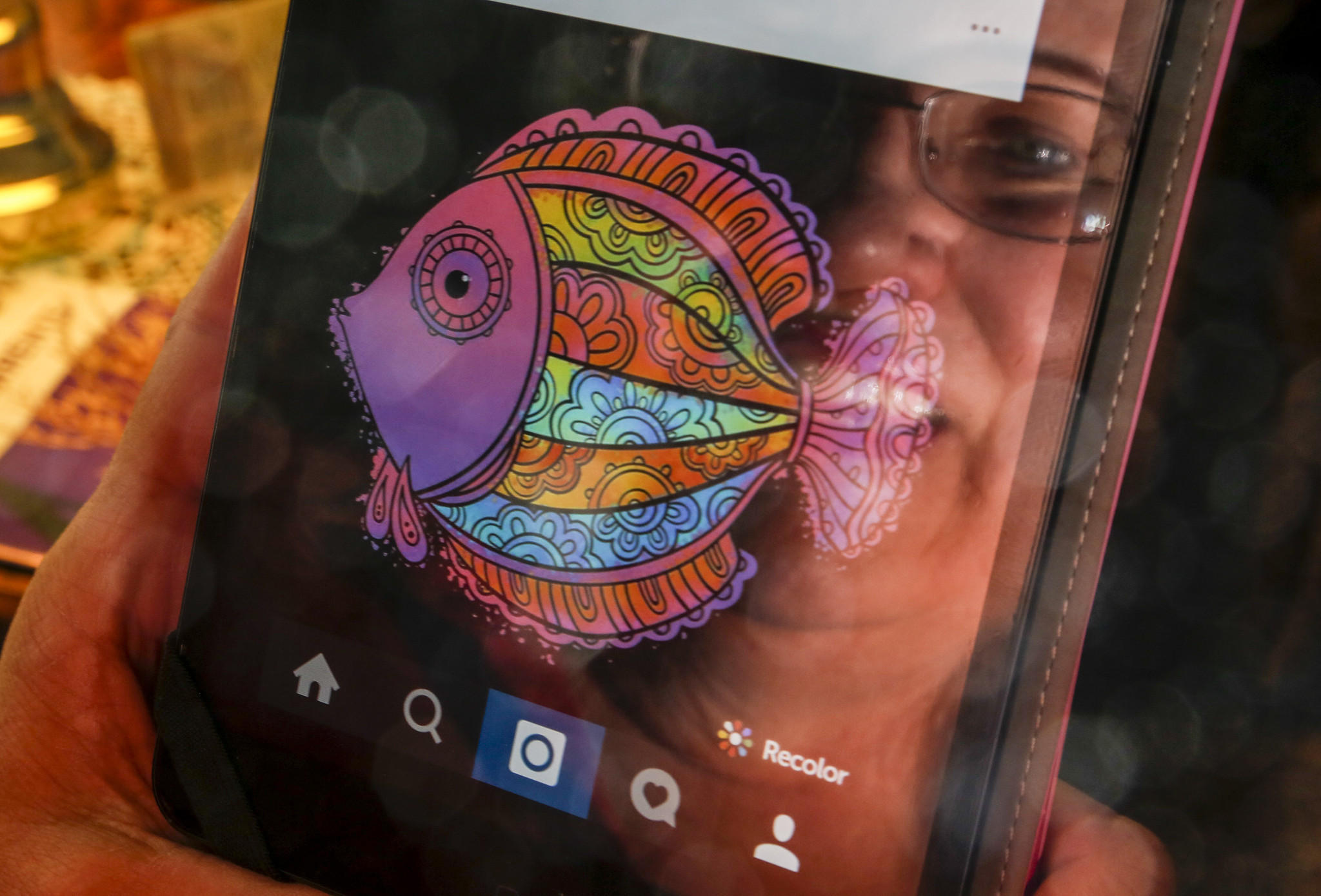 Online virtual coloring - Adult Coloring Books Face Threat From App Rivals Colorfy Recolor And More La Times