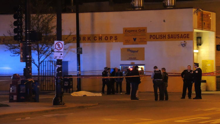 2 shot outside Pilsen carry-out, Scene of Pilsen shooting