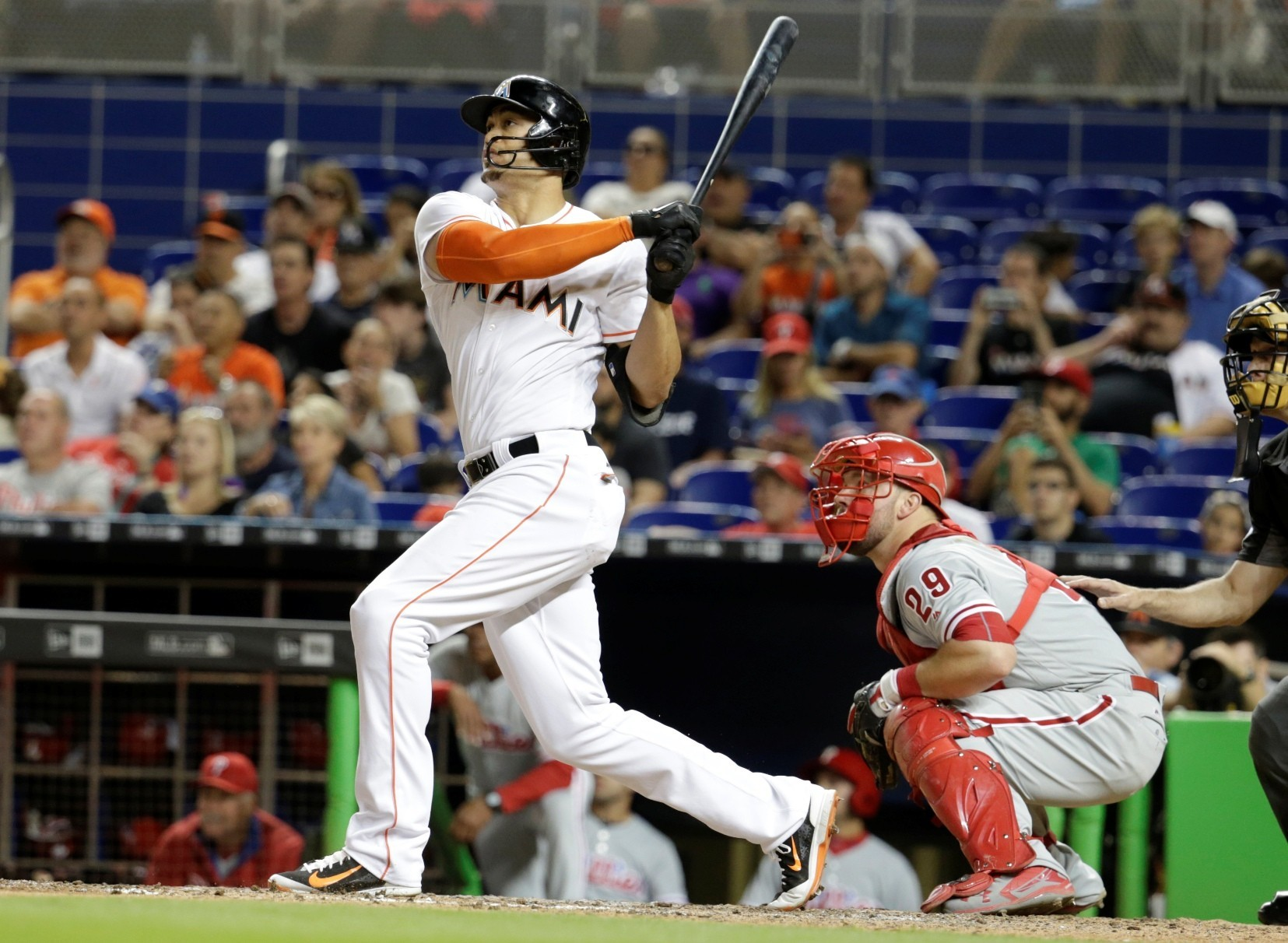 Homers By Stanton Yelich Leave No Doubt Sun Sentinel