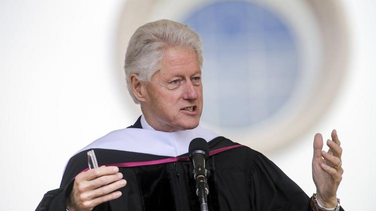 Former President Bill Clinton delivered commencement speech Saturday at Loyola Marymount University. (Irfan Khan/Los Angeles Times.)