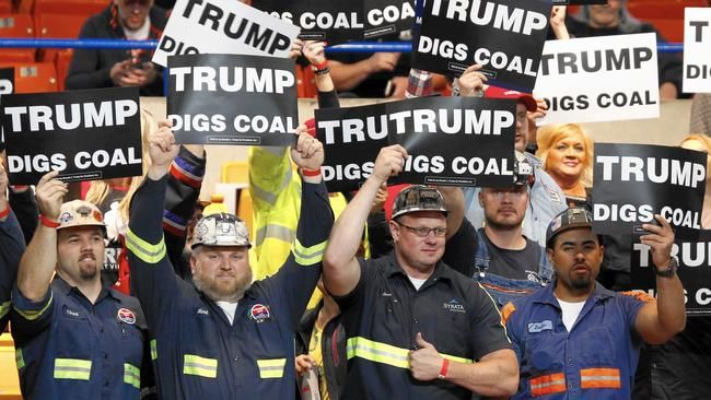 Image result for coal mining trump