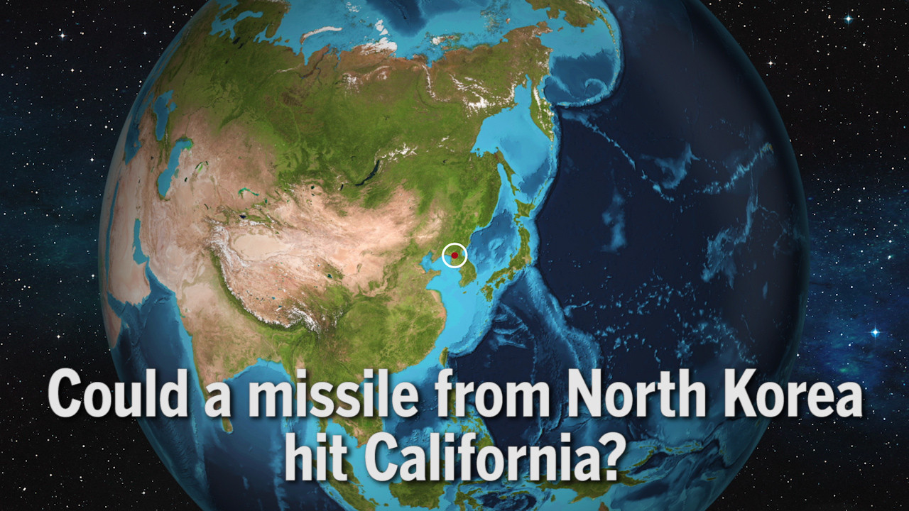 Could a missile from North Korea hit California  LA Times