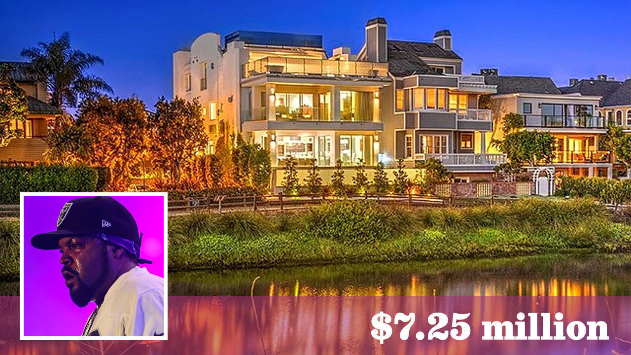 Ice cube buys jean claude van damme 39 s canal front home in for Canal front home designs