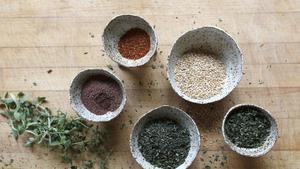 Fresh herb za'atar