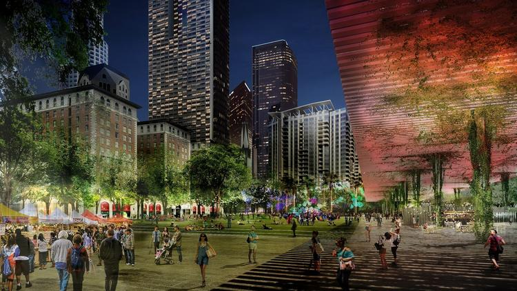 Part of Agence Ter's design for Pershing Square in downtown Los Angeles.