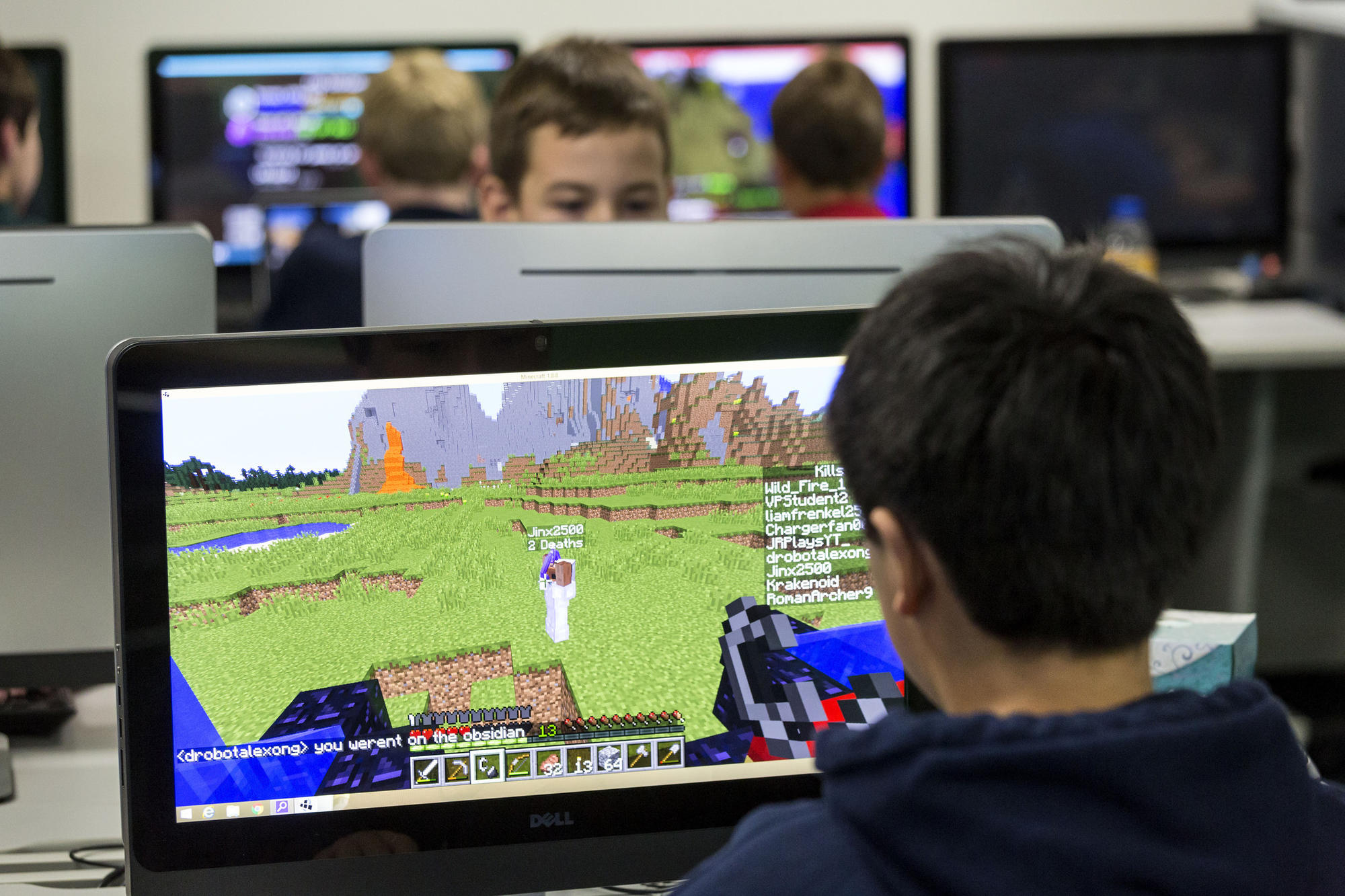 Viewpoint School students began regularly broadcasting on Twitch from a classroom earlier this year.