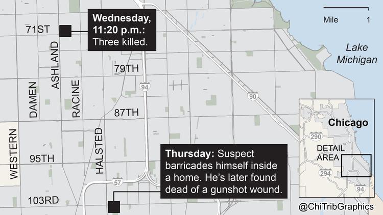 Map: Englewood gunman