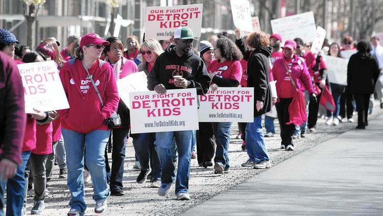 Detroit teachers stage sickout
